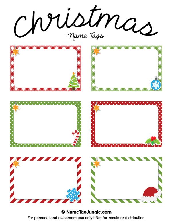 free printable santa name tags