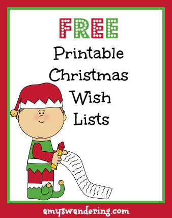 free printable santa wish list