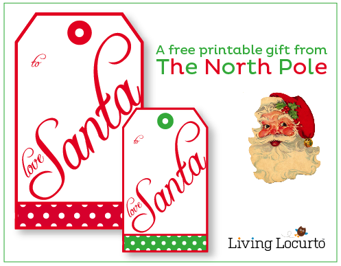 image relating to Free Printable North Pole Special Delivery Printable named Against Santa Labels Towards Print - Xmas Printables