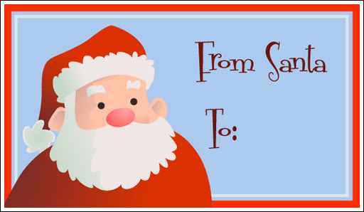 graphic relating to Secret Santa Gift Tags Printable known as Towards Santa Labels In the direction of Print - Xmas Printables