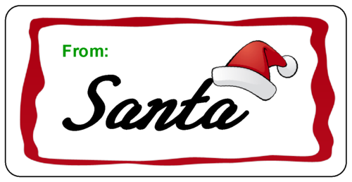 from santa labels to print