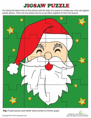jigsaw puzzle printables for christmas