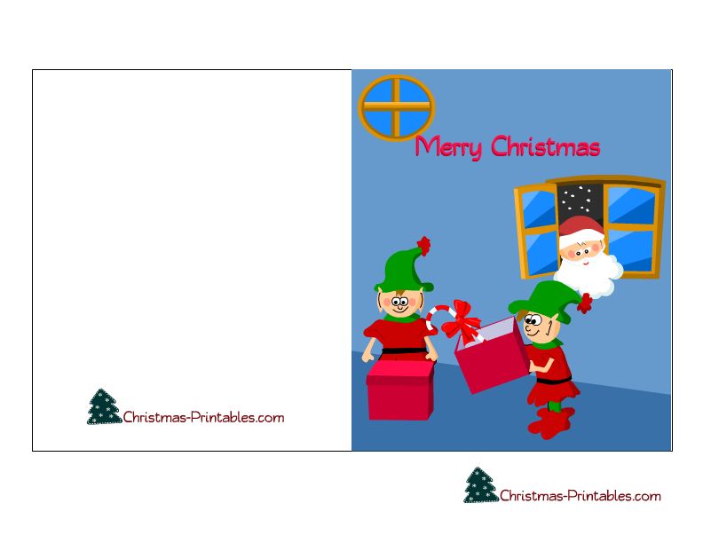 kids christmas card printable