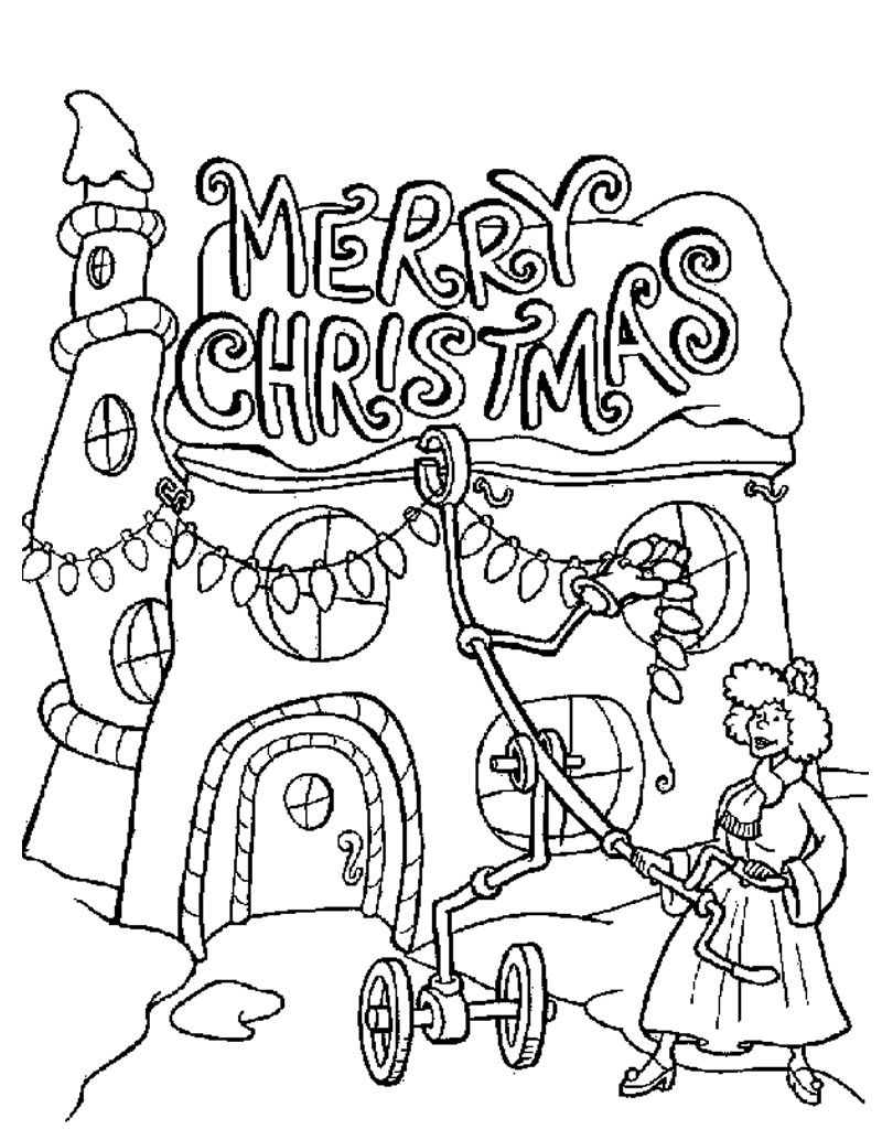 51 Top Christmas Coloring Pages Large Download Free Images