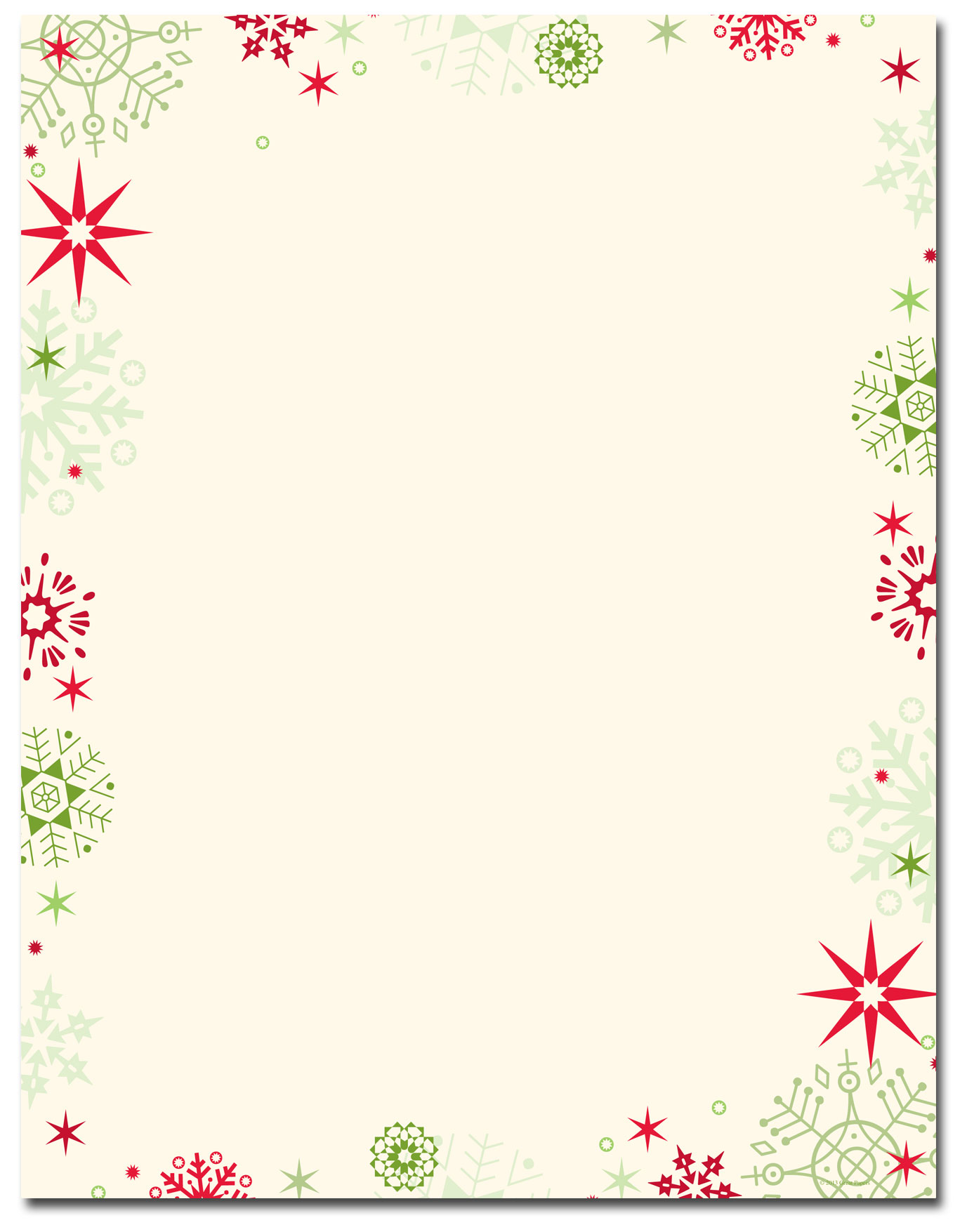 image regarding Free Printable Thanksgiving Borders titled Letterhead Printables For Xmas - Xmas Printables
