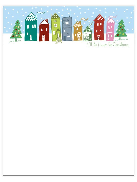 image relating to Free Printable Christmas Letterhead known as Letterhead Printables For Xmas - Xmas Printables