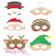 mask printables for christmas