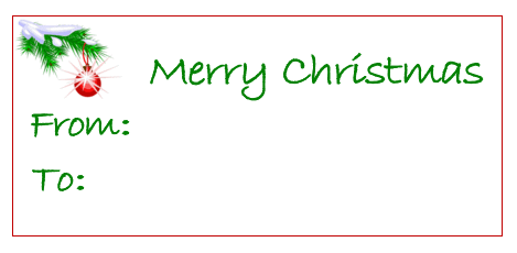 merry christmas gift card printable