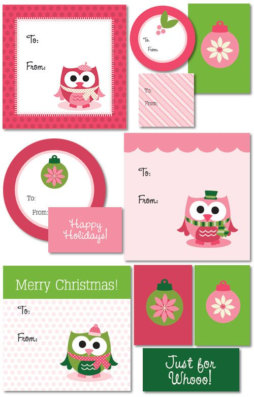 merry christmas gift tags printable