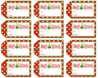 merry christmas labels printable