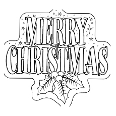 merry christmas printable coloring pages