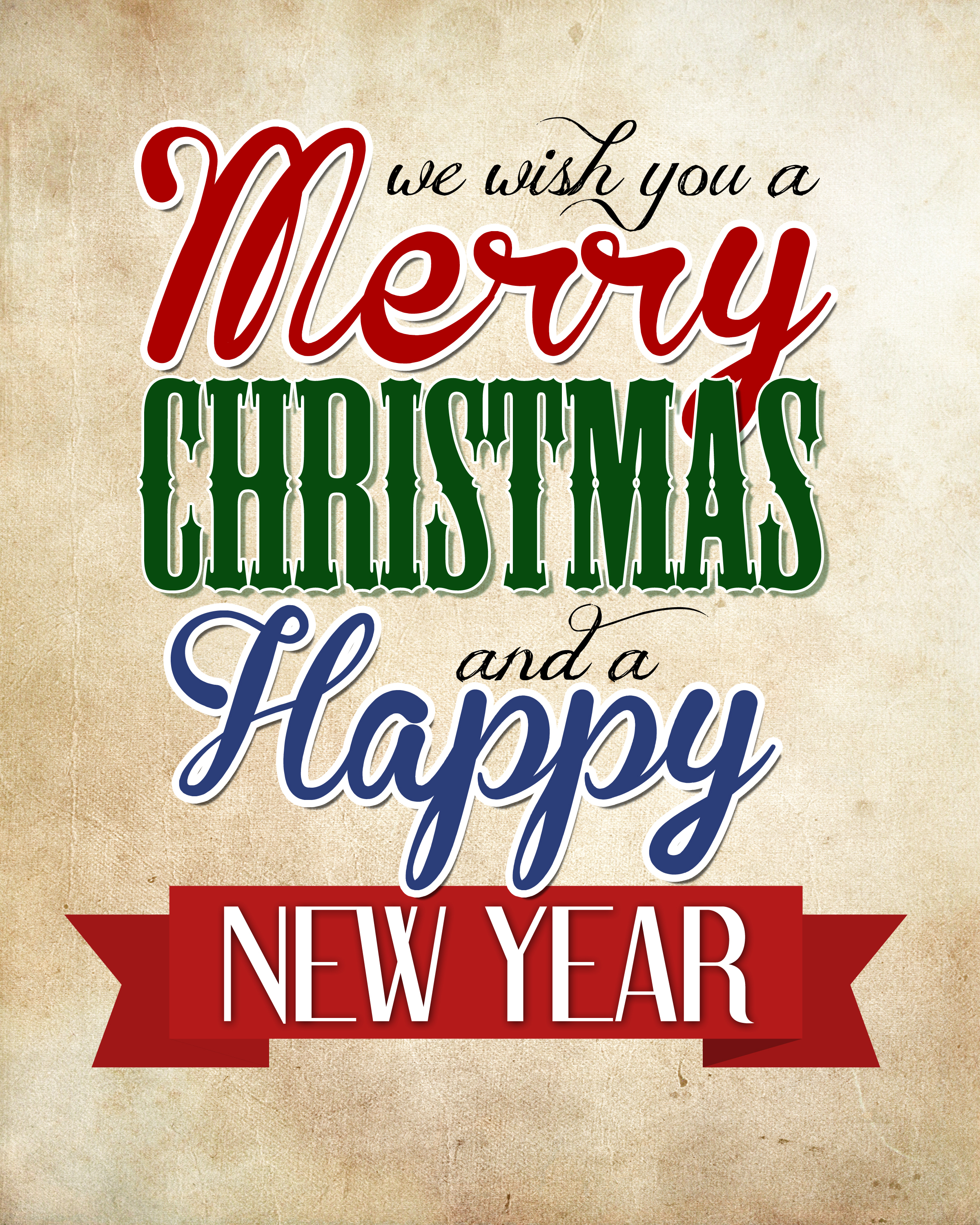 merry christmas sign printable