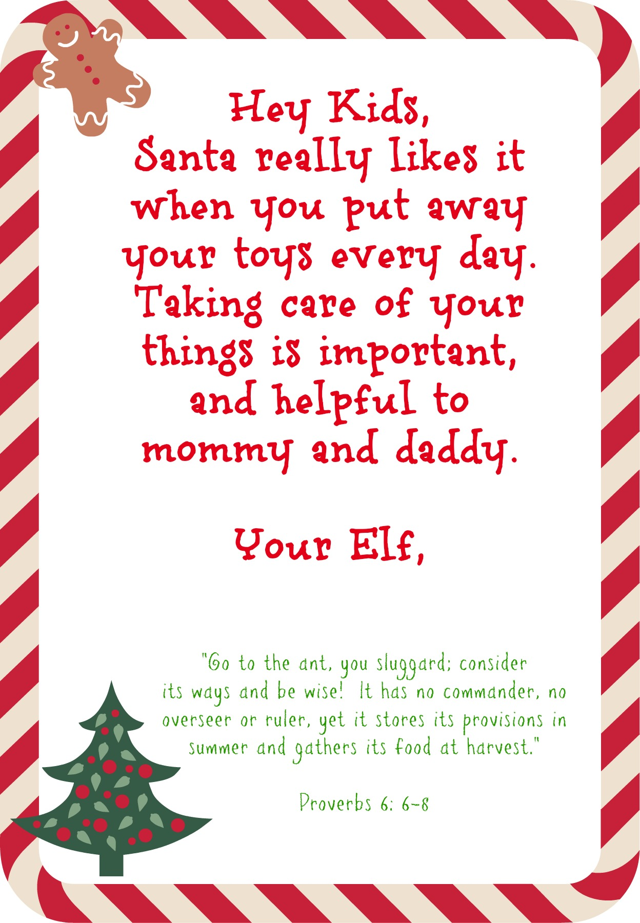 note from elf on the shelf printable