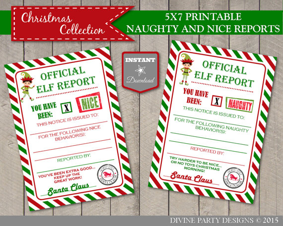 official elf report printable
