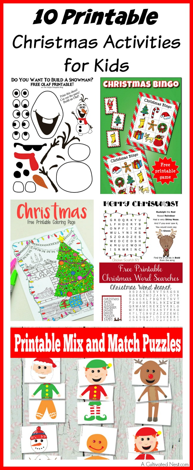 printable christmas activities for kids
