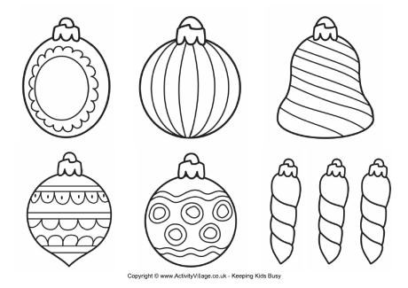 printable christmas baubles
