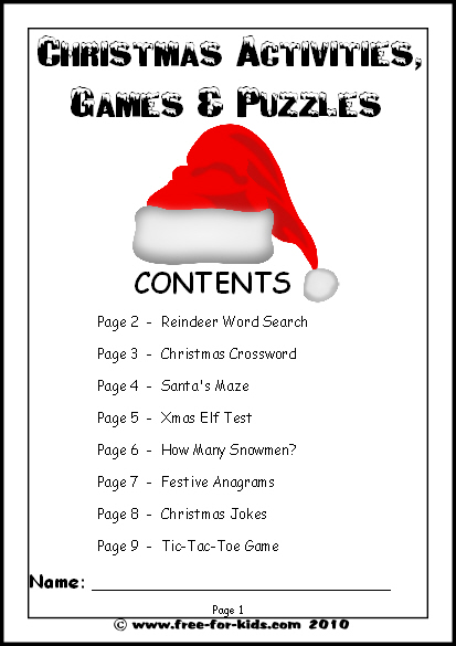 printable christmas games for children