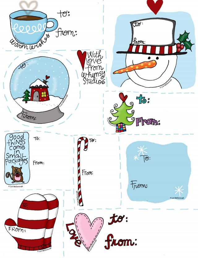 printable christmas gift tags