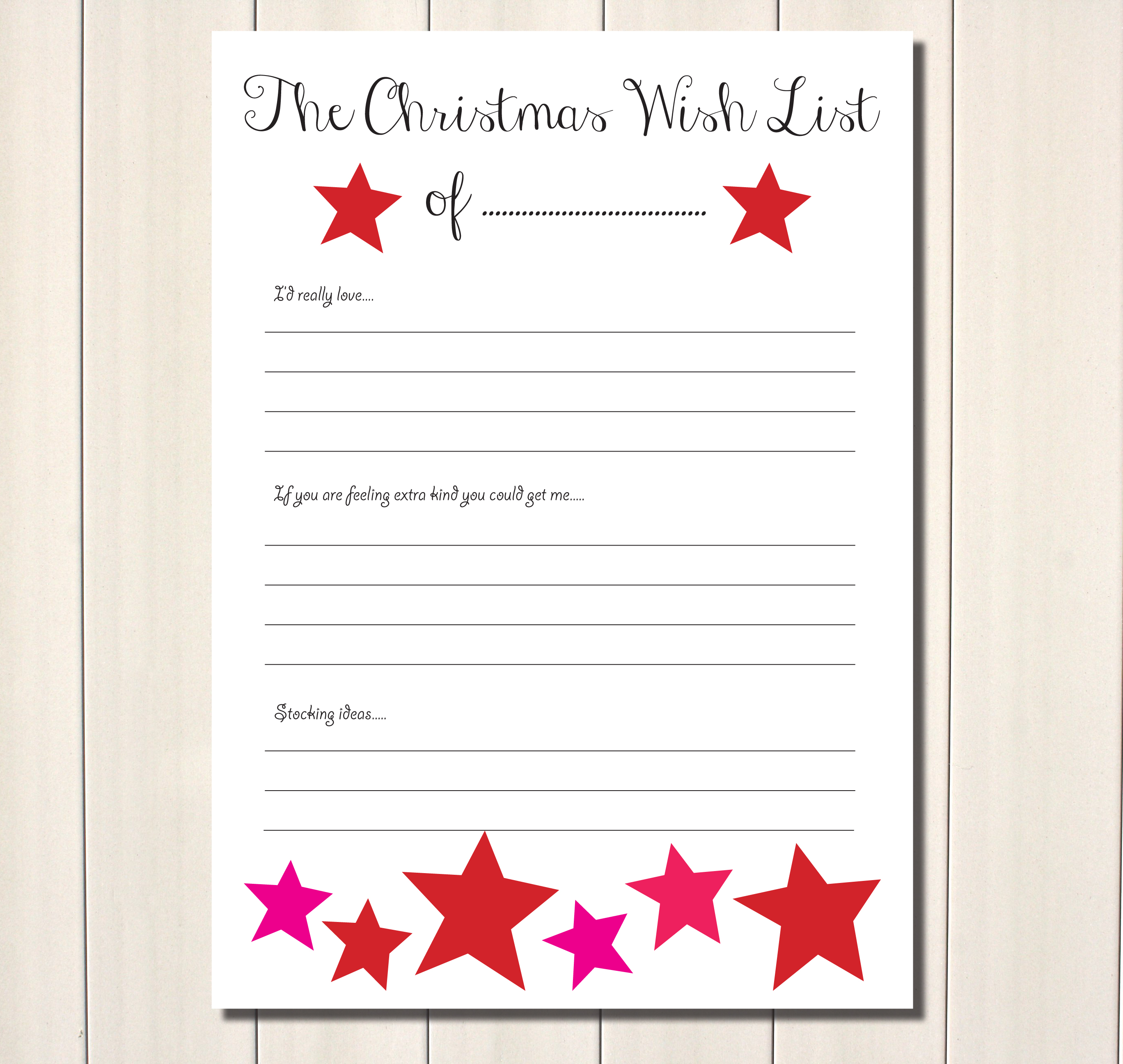 printable christmas ideas
