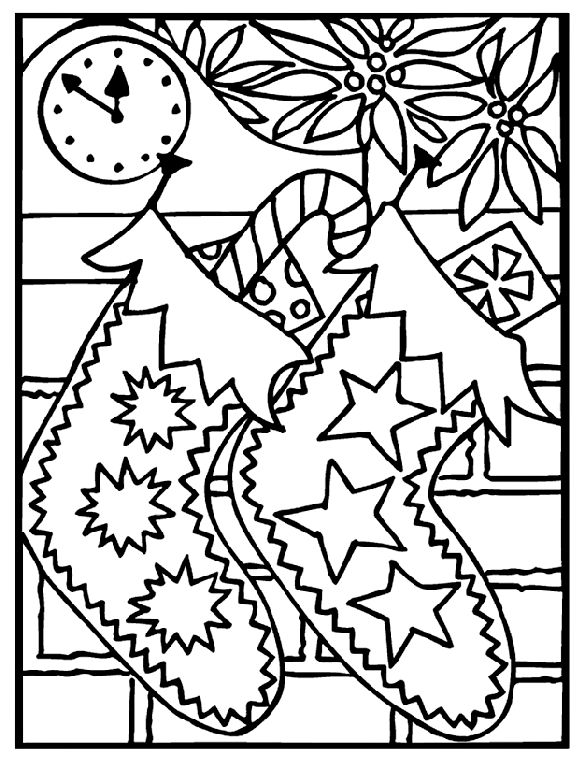 printable christmas scenes to color