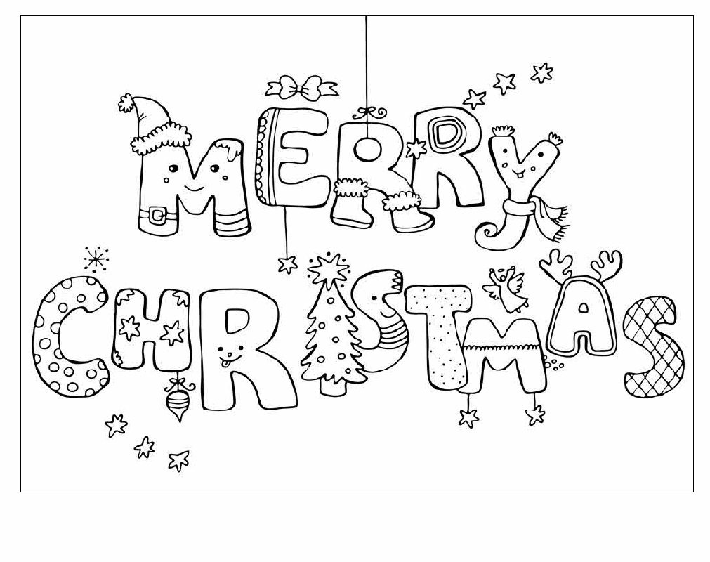 Printable Coloring Christmas Cards For Kids Christmas Printables