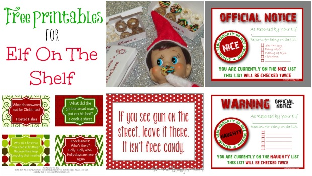 printable elf on a shelf