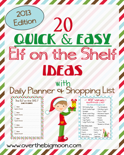 printable elf on the shelf ideas