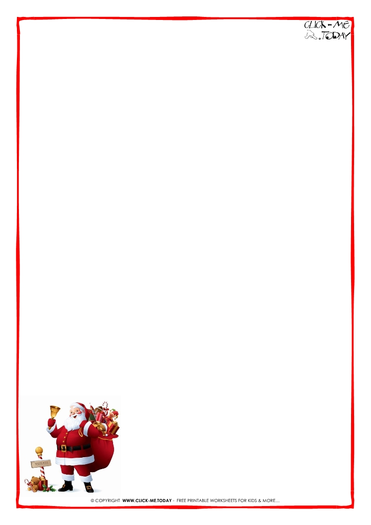 Printable Letter To Santa Paper Christmas Printables