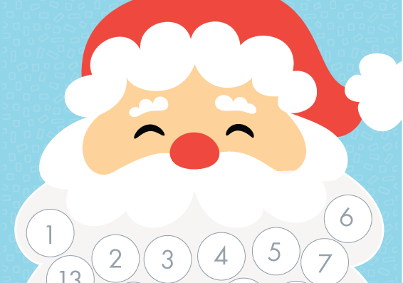 graphic regarding Free Printable Advent Calendar Template identified as Printable Santa Xmas Countdown - Xmas Printables