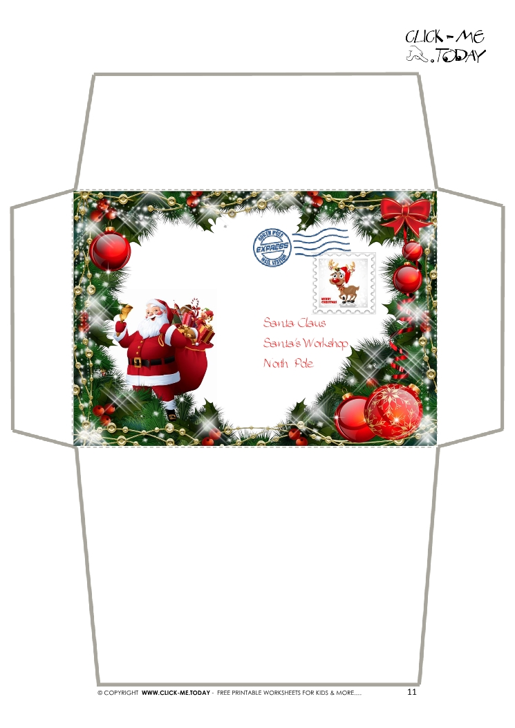 Critical image intended for christmas envelopes free printable