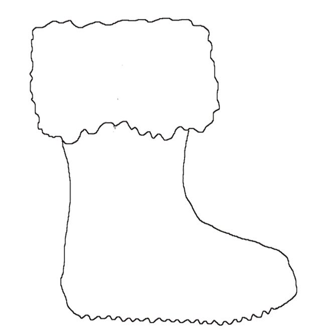 santa boot template printable
