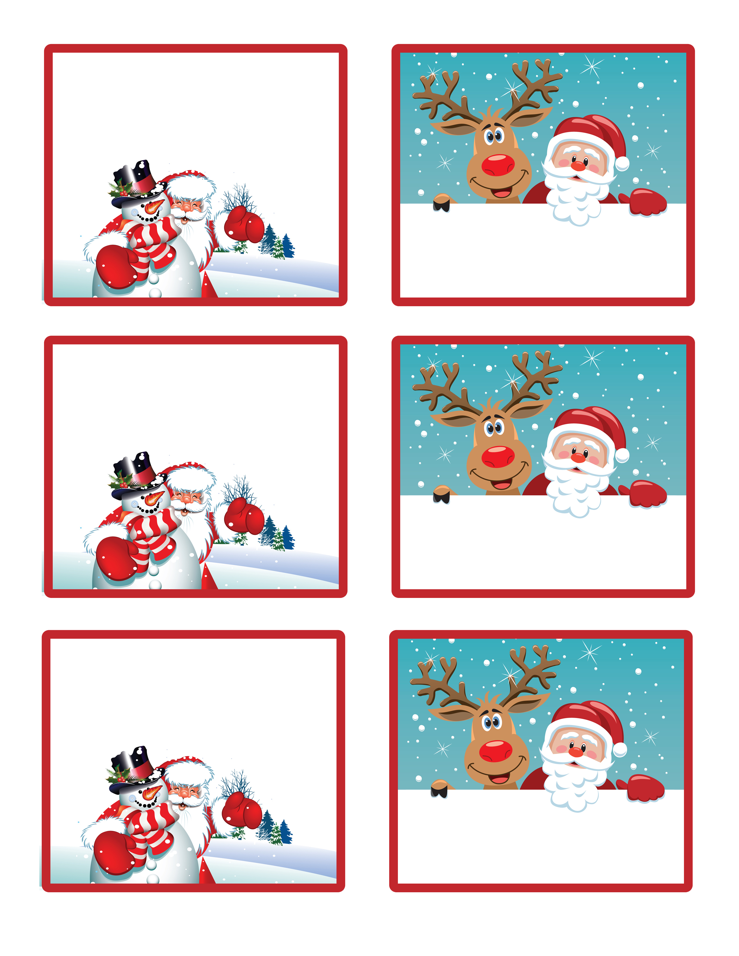 santa christmas labels to print