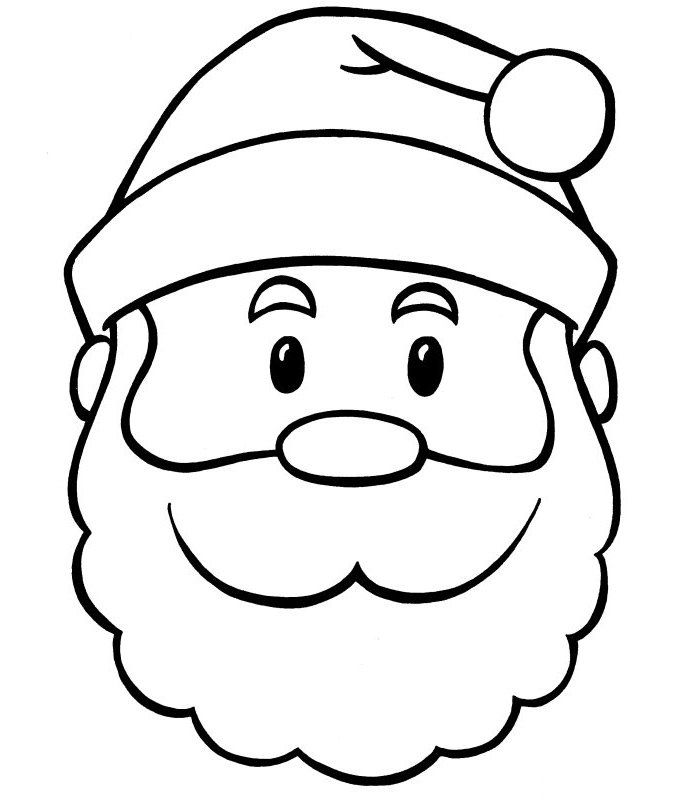 graphic regarding Printable Face Template called Santa Claus Encounter Template Printable - Xmas Printables