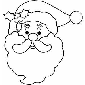 santa claus face template printable