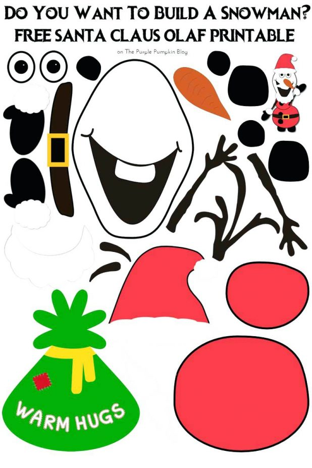 image about Olaf Face Printable identify Santa Claus Facial area Template Printable - Xmas Printables
