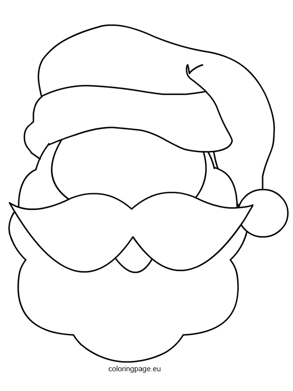 santa claus mask printable