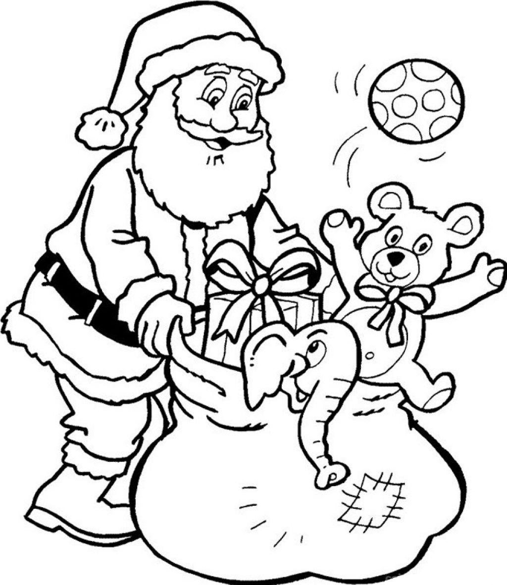 santa claus outline printable