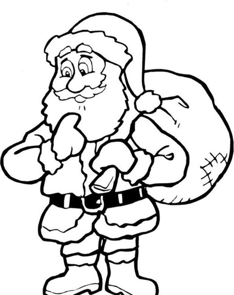 santa claus printable coloring pages