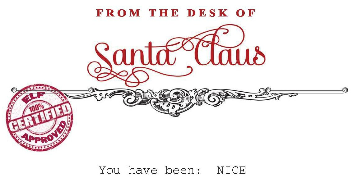santa claus stamp printable