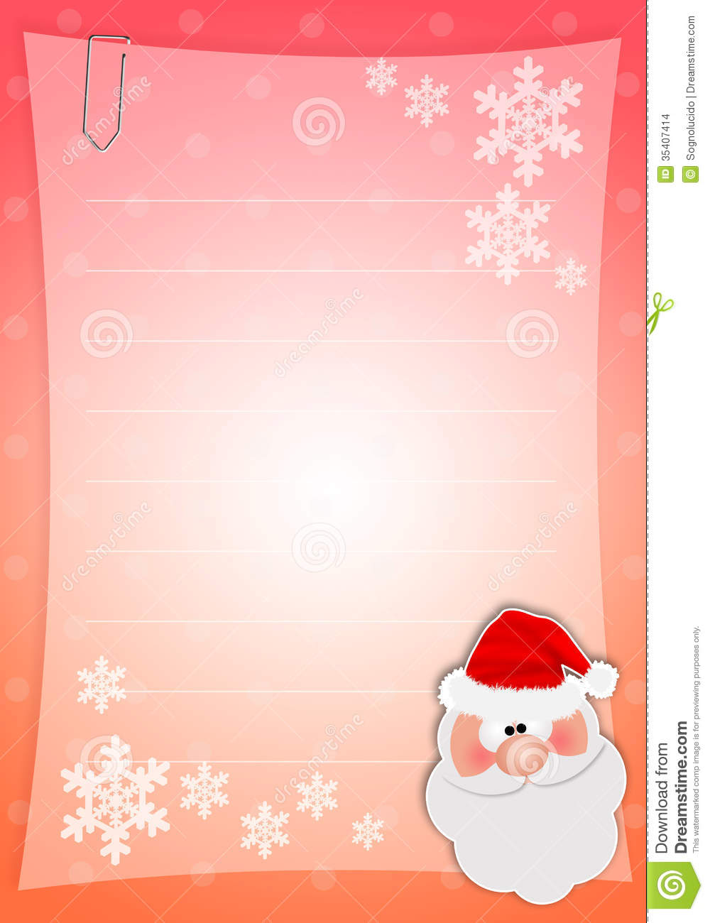 santa claus wish list printable