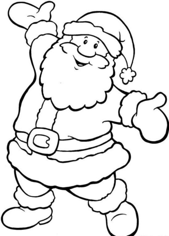 santa coloring pages printable free