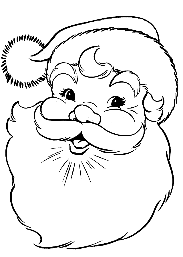 Santa Coloring Pages Printable Free - Christmas Printables