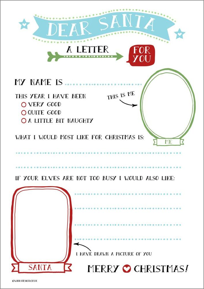 santa letter template printable free