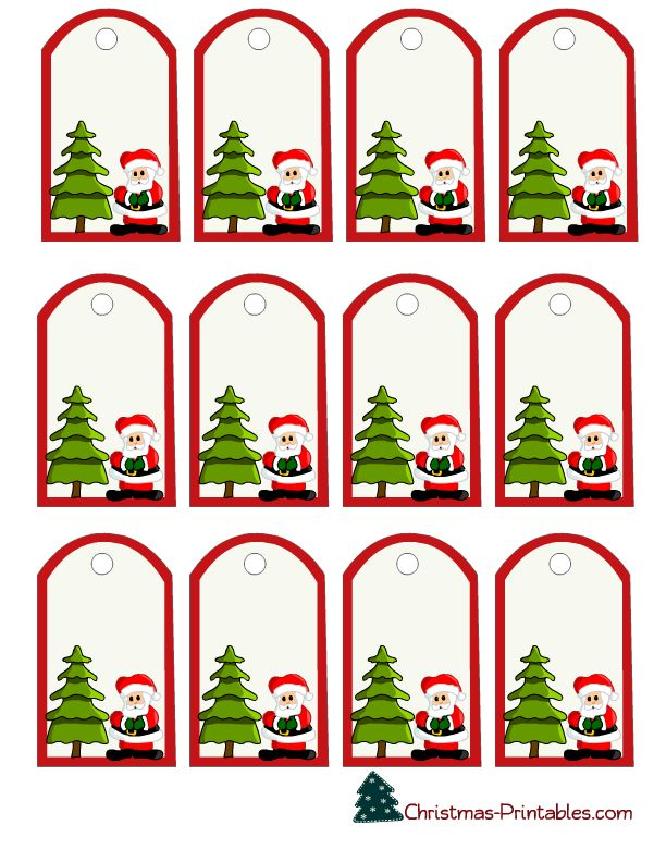 Santa Name Tags Printable Christmas Printables