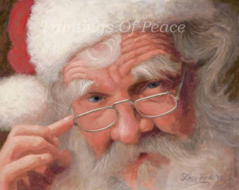 santa pictures to print