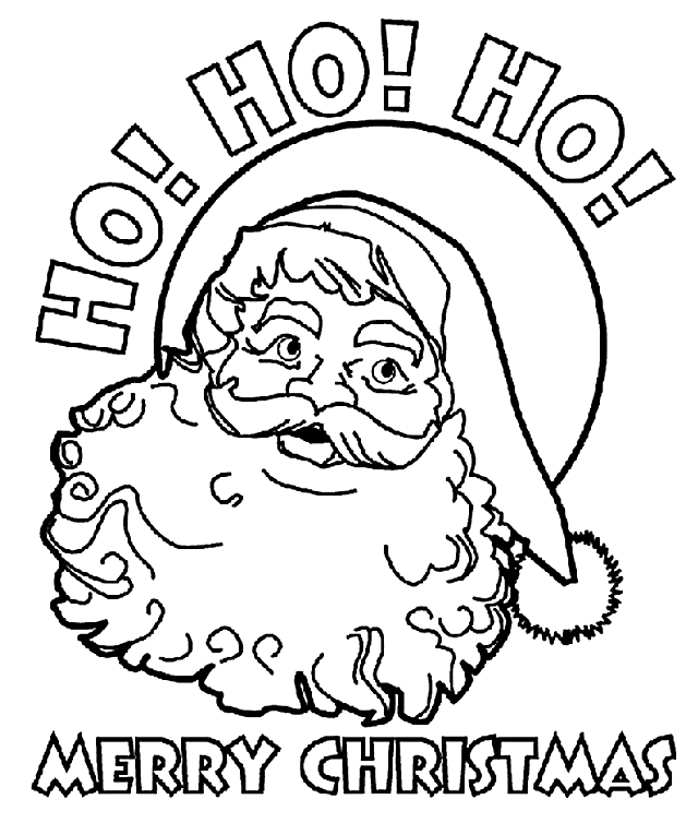 image regarding Santa Printable Coloring Pages named Santa Printable Coloring Webpages - Xmas Printables