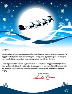 santa reply letters printable