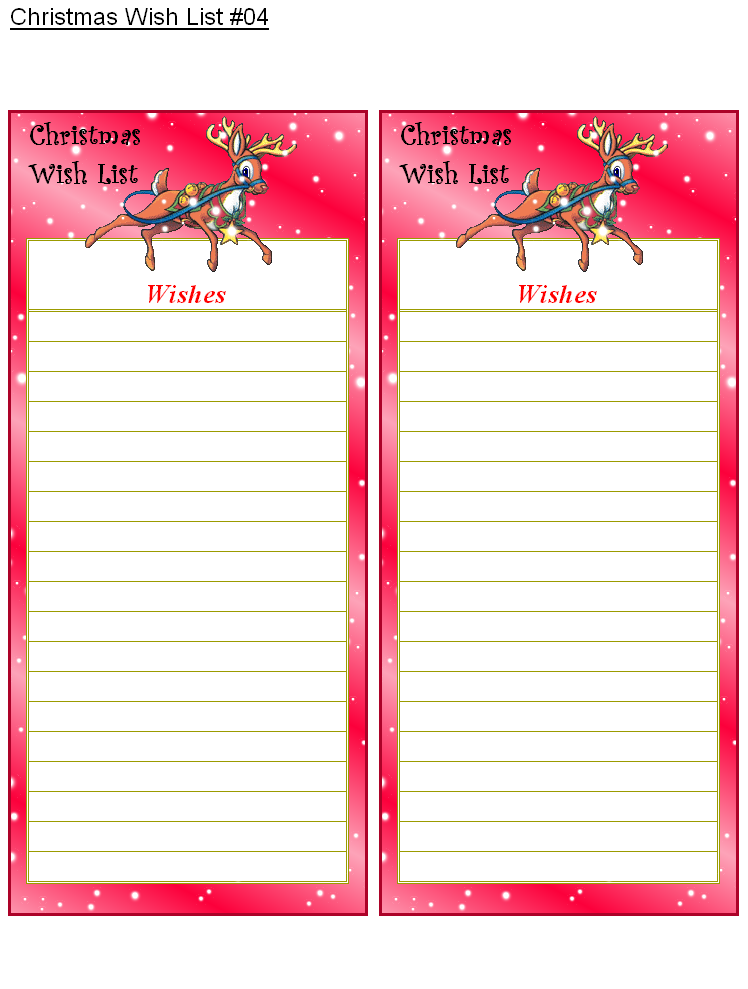 photograph regarding Printable Secret Santa Wish Lists named Santa Motivation Record Template Cost-free Printable - Xmas Printables