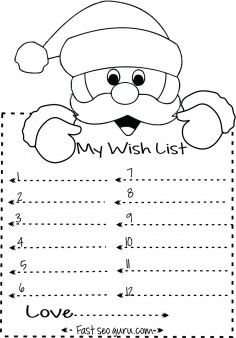 santa wish list template free printable