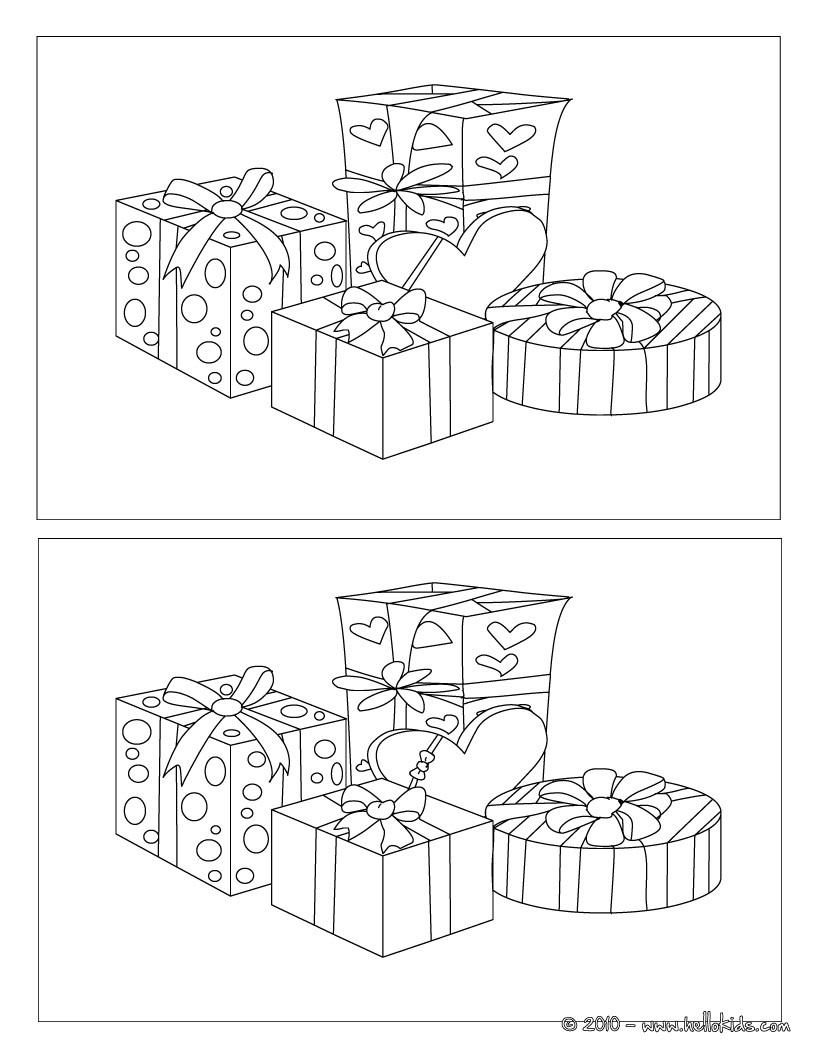 spot the difference printables for christmas
